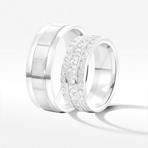 Obrączki ślubne z białego złota 7.5mm