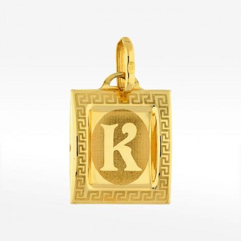 Złota zawieszka literka K