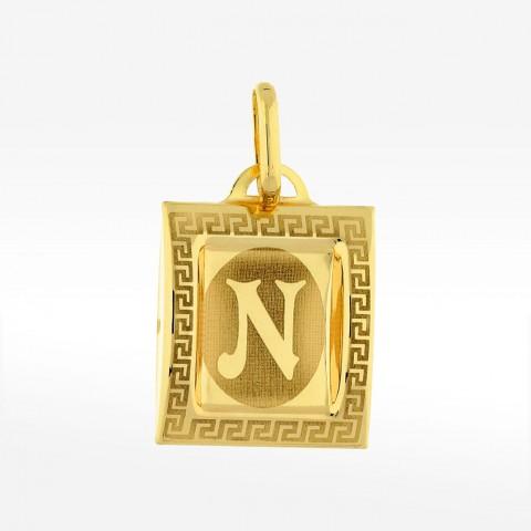 Złota zawieszka literka N