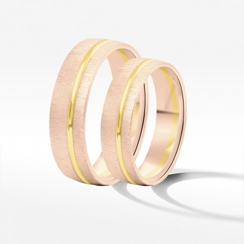 Obrączki ślubne z dwukolorowego złota 5.5mm