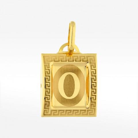 Złota zawieszka literka O
