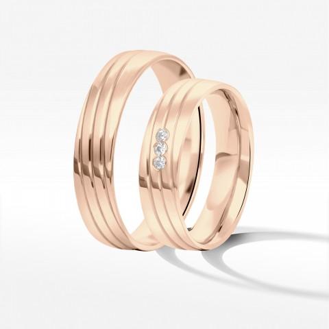 Obrączki ślubne z różowego złota 5mm
