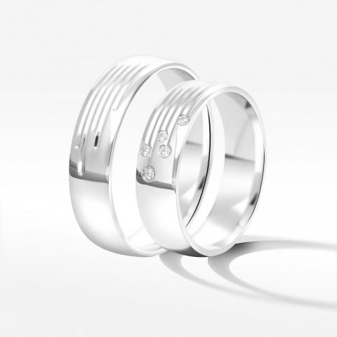 Obrączki ślubne z białego złota 5.5mm
