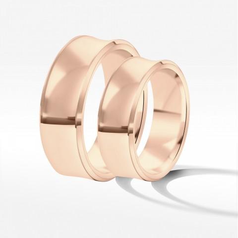 Obrączki ślubne z różowego złota 7mm