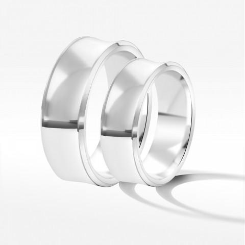 Obrączki ślubne z białego złota 7mm