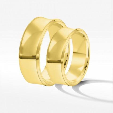 Obrączki ślubne z żółtego złota 7mm