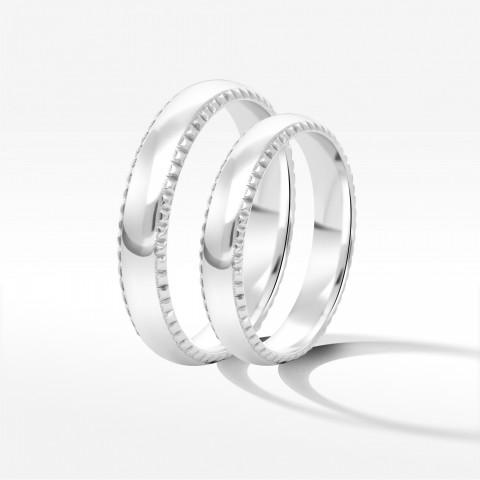 Obrączki ślubne z białego złota 4mm