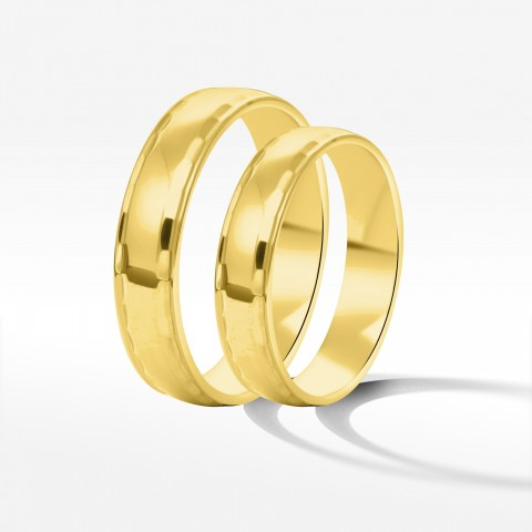 Obrączki ślubne z żółtego złota 4.5mm