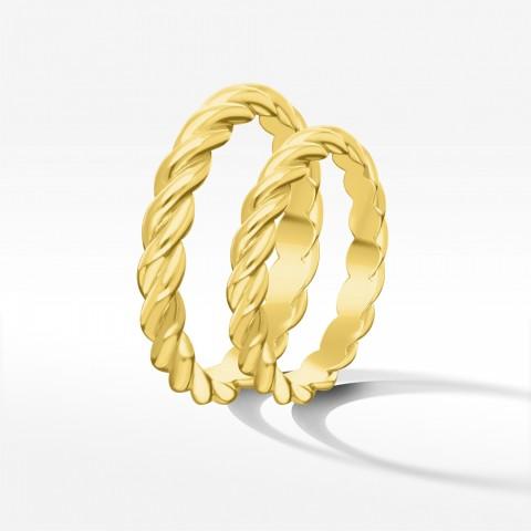 Obrączki ślubne z żółtego złota 3mm