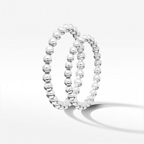 Obrączki ślubne z białego złota 2.2mm