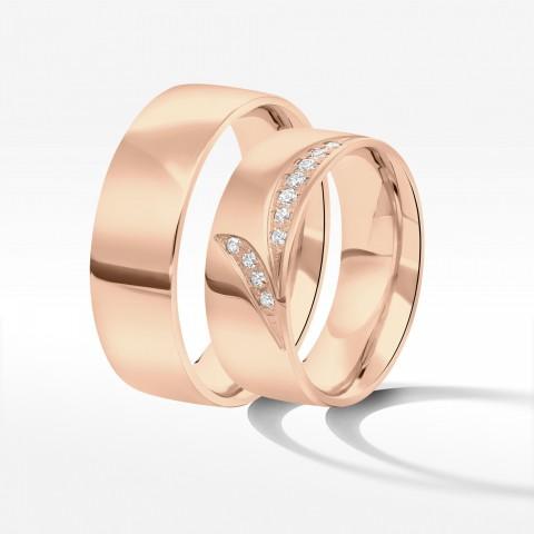 Obrączki ślubne z różówego złota 7mm