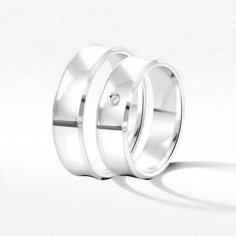 Obrączki ślubne z białego złota 6mm