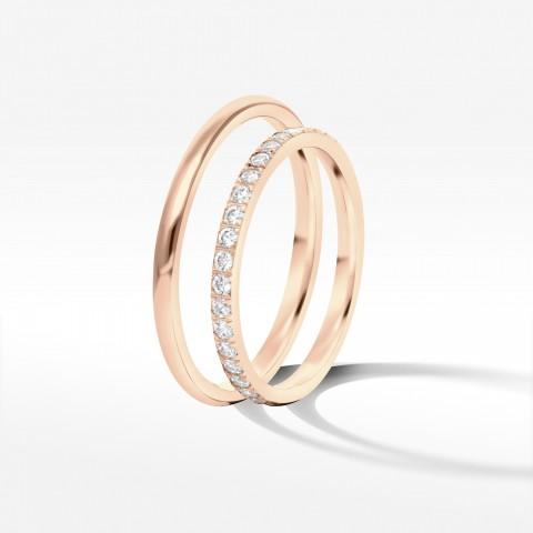 Obrączki ślubne z różowego złota 1.8mm