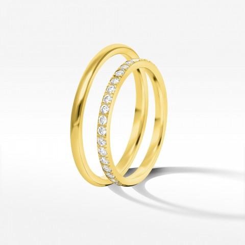 Obrączki ślubne z żółtego złota 1.8mm