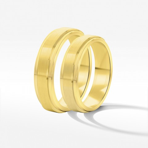 Obrączki ślubne z żółtego złota 5mm z fazą