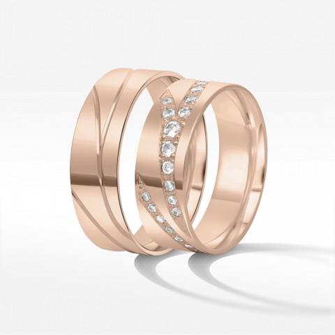 Obrączki ślubne z dwukolorowego złota 7mm