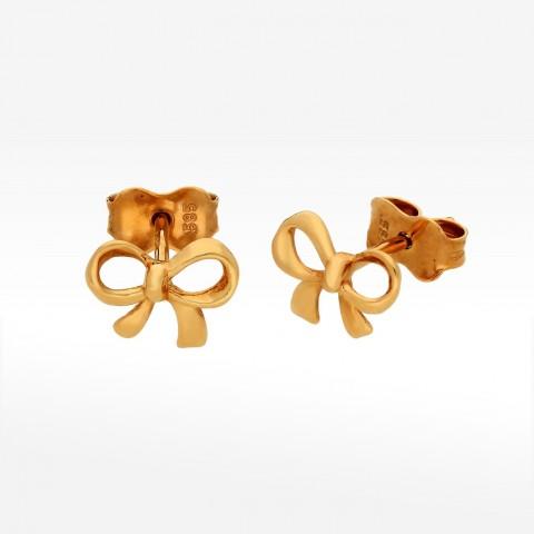 Kolczyki ze złota kokardki