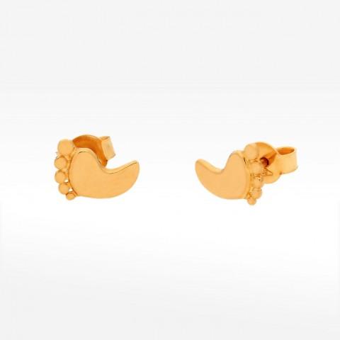 Kolczyki ze złota stopy niemowlaka