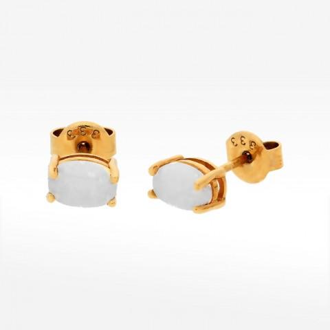 Kolczyki ze złota z opalem