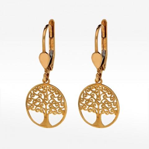 Kolczyki ze złota drzewo życia