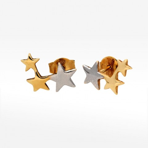 Kolczyki ze złota gwiazdki