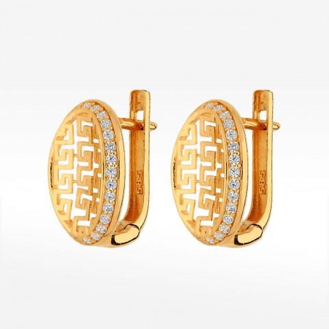 Kolczyki ze złota z cyrkoniami