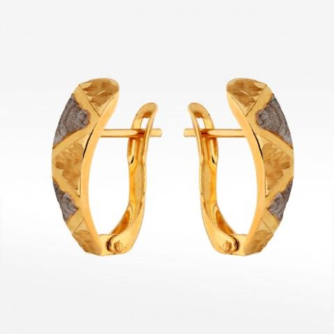Dwukolorowe kolczyki ze złota