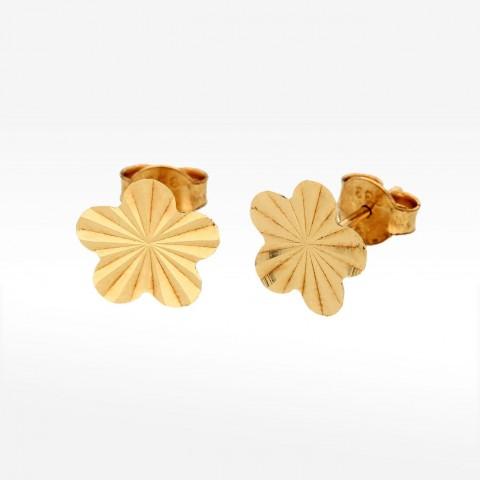 Kolczyki ze złota w kształcie kwiatu
