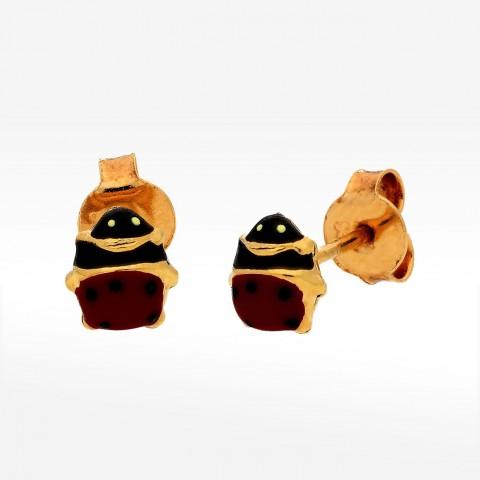 Kolczyki ze złota biedronka