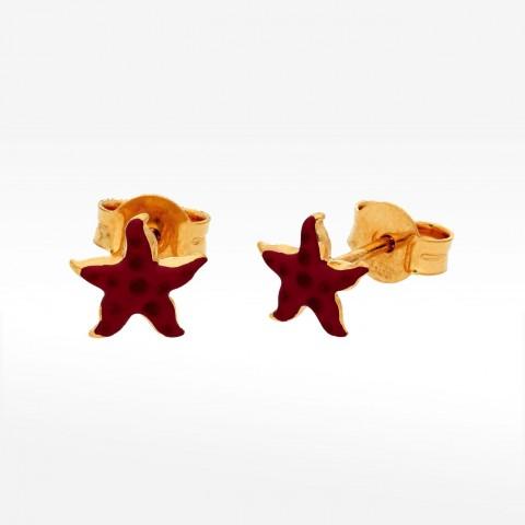Kolczyki ze złota rozgwiazda