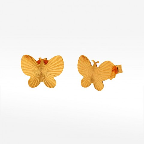 Kolczyki ze złota motyl