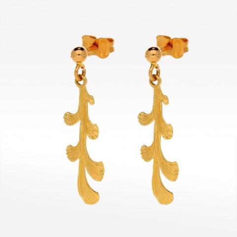 Biżuteria Dall'acqua opływowe złote kolczyki