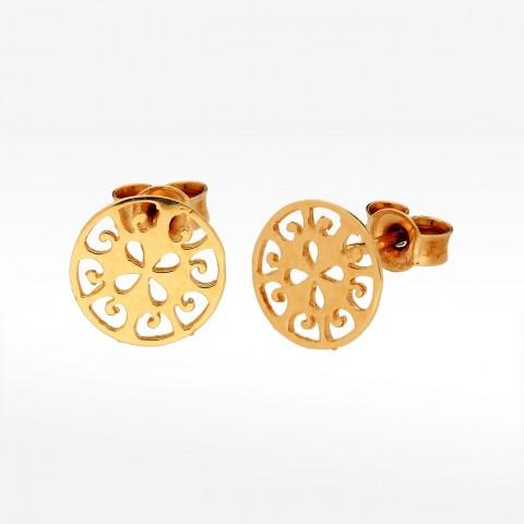Ażurowe kolczyki ze złota