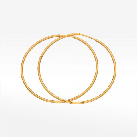 Złote kolczyki 4.6cm koła