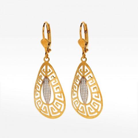 Ażurkowe kolczyki ze złota wiszące
