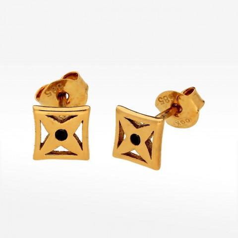 Fantazyjne kolczyki ze złota sztyfty