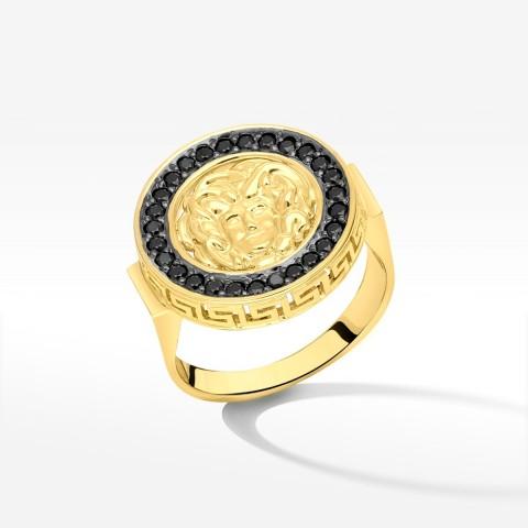 Pierścionek ze złota z medusą