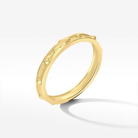 Pierścionek ze złota różaniec