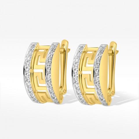 Kolczyki ze złota wzór grecki