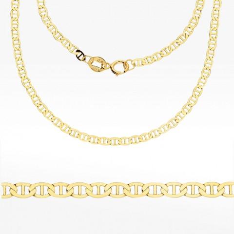 Złoty łańcuszek 45cm splot Gucci Pełny