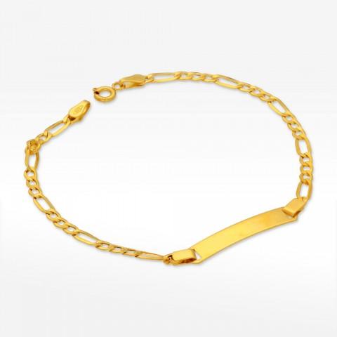Bransoletka ze złota z blaszką figaro