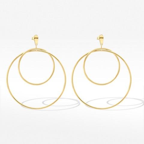 Biżuteria Dall'acqua złote kolczyki koła