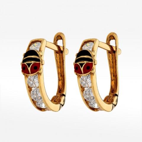 Kolczyki ze złota biedronki