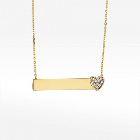 Naszyjnik ze złota z blaszką