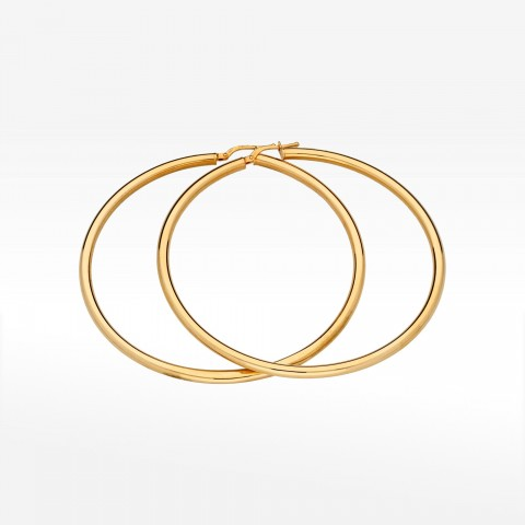 Biżuteria Dall'acqua złote kolczyki 6.5cm koła