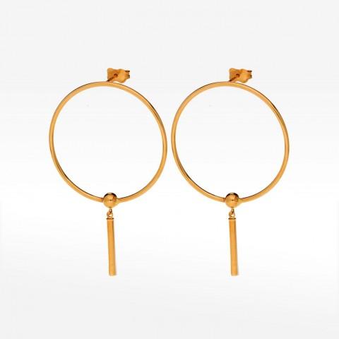 Biżuteria Dall'acqua złote kolczyki 3.2cm koła