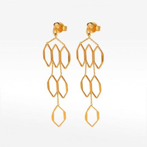 Biżuteria Dall'acqua wiszące złote kolczyki