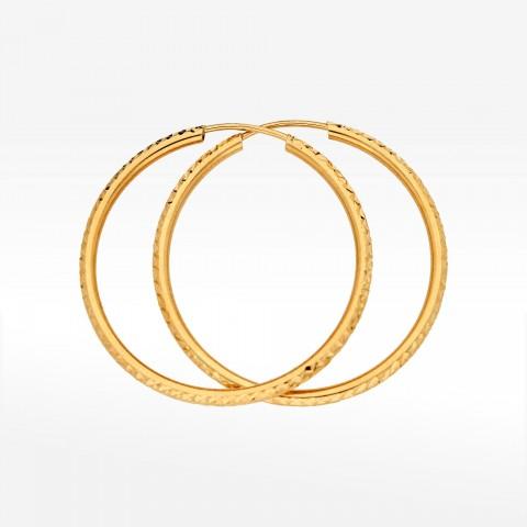 Kolczyki ze złota 2cm koła