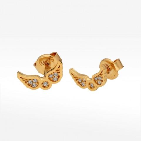 Kolczyki ze złota skrzydła