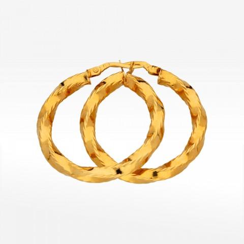 Kolczyki z złota 3.8cm koła